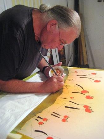 CB Schneider beim Malen