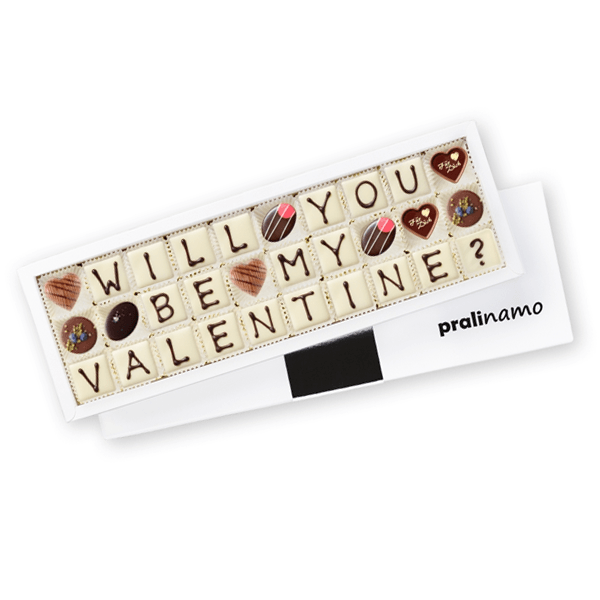 WILL YOU BE MY VALENTINE - Pralinen 30er