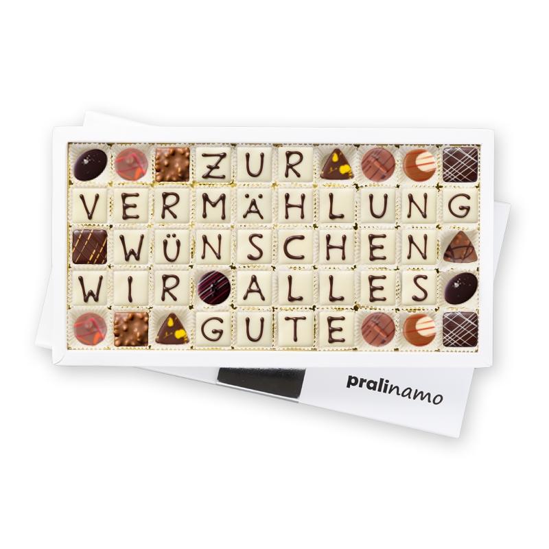 ZUR VERMÄHLUNG WÜNSCHEN WIR ALLES GUTE - Pralinen 50er